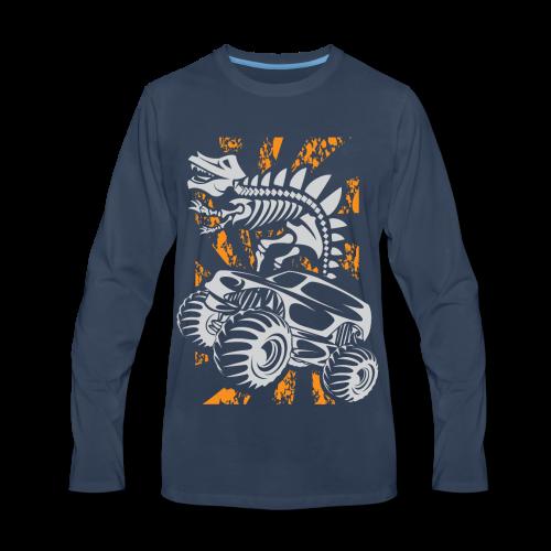 Monster Truck Dino - Men's Premium Long Sleeve T-Shirt