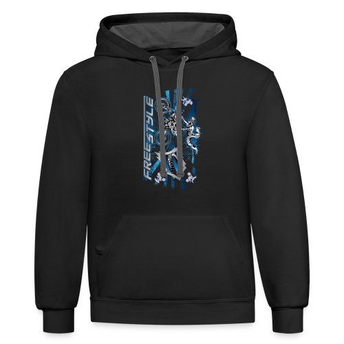 Freestyle MX Shield Blue - Contrast Hoodie