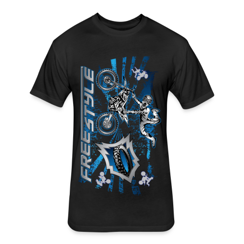 Freestyle MX Shield Blue - Fitted Cotton/Poly T-Shirt by Next Level