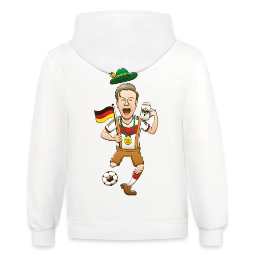 Germany is Four-time World Champion Hoodies - Contrast Hoodie
