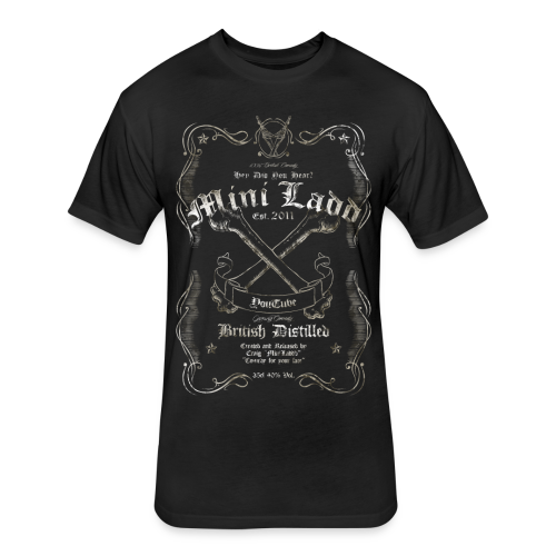 Mini Ladd Whiskey Mens - Fitted Cotton/Poly T-Shirt by Next Level