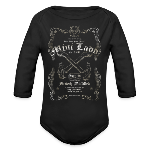 Mini Ladd Whiskey Mens - Long Sleeve Baby Bodysuit