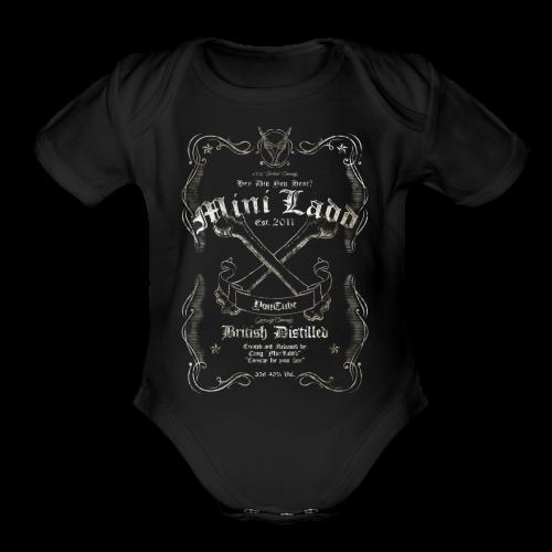 Mini Ladd Whiskey Mens - Organic Short Sleeve Baby Bodysuit