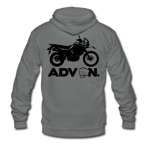 Trusty ADV On - Brown Logo - Unisex Fleece Zip Hoodie by American Apparel