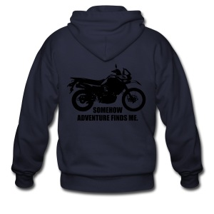 Trusty Adventure Finds Me - White Logo - Men's Zip Hoodie