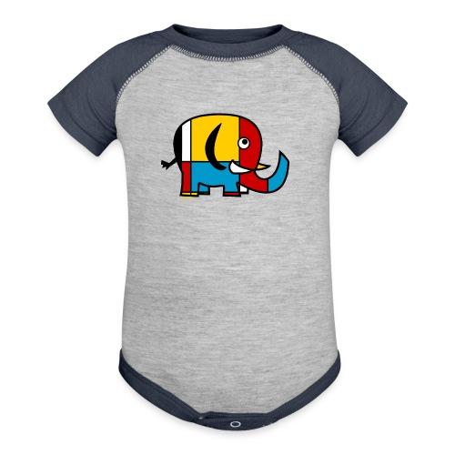 Mondrian Elephant Kids T-Shirt - Baby Contrast One Piece