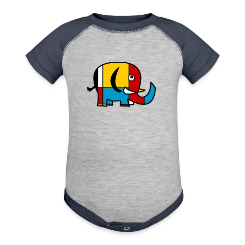 Mondrian Elephant Kids T-Shirt - Baby Contrast One Piece