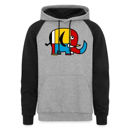 Mondrian Elephant Kids T-Shirt - Colorblock Hoodie