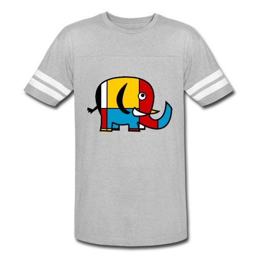 Mondrian Elephant Kids T-Shirt - Vintage Sport T-Shirt