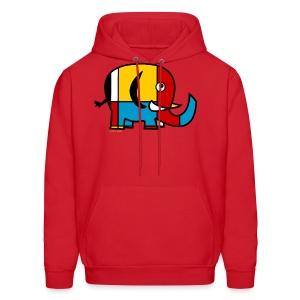 Mondrian Elephant Kids T-Shirt - Men's Hoodie