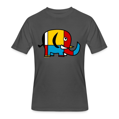 Mondrian Elephant Kids T-Shirt - Men's 50/50 T-Shirt