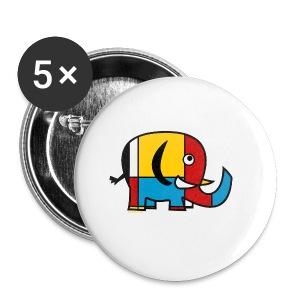 Mondrian Elephant Kids T-Shirt - Small Buttons