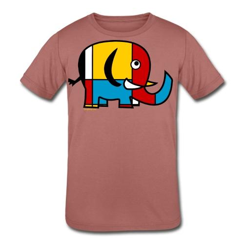 Mondrian Elephant Kids T-Shirt - Kids' Tri-Blend T-Shirt