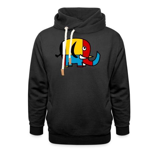 Mondrian Elephant Kids T-Shirt - Shawl Collar Hoodie