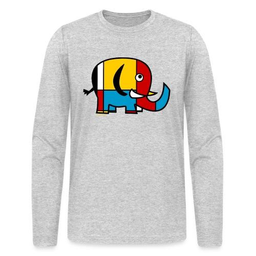 Mondrian Elephant Kids T-Shirt - Men's Long Sleeve T-Shirt by Next Level