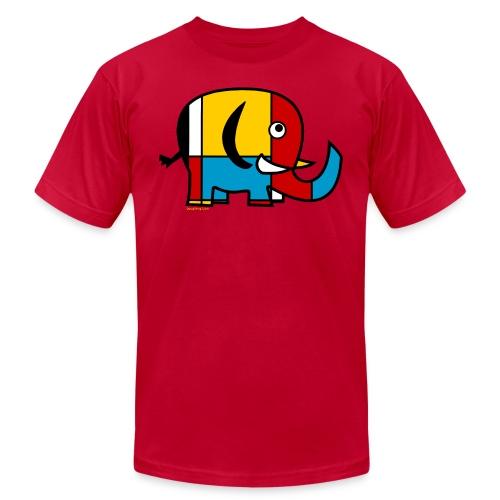 Mondrian Elephant Kids T-Shirt - Men's Fine Jersey T-Shirt