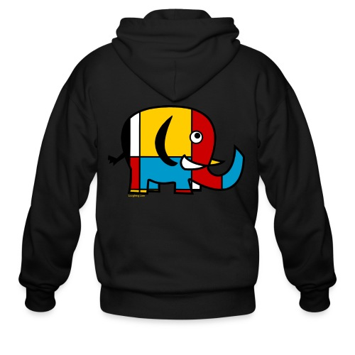 Mondrian Elephant Kids T-Shirt - Men's Zip Hoodie