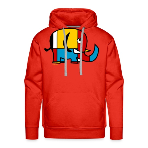 Mondrian Elephant Kids T-Shirt - Men's Premium Hoodie