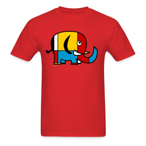 Mondrian Elephant Kids T-Shirt - Men's T-Shirt