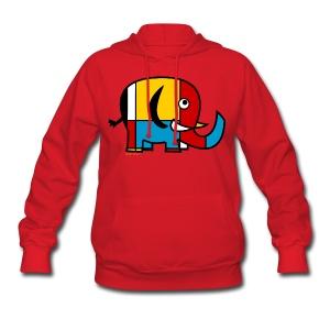 Mondrian Elephant Kids T-Shirt - Women's Hoodie