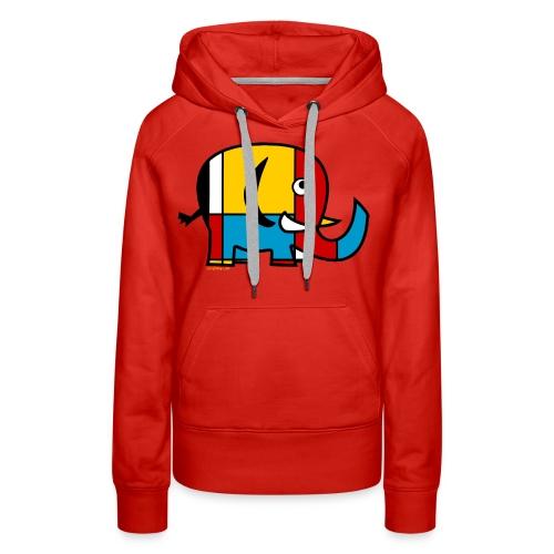 Mondrian Elephant Kids T-Shirt - Women's Premium Hoodie