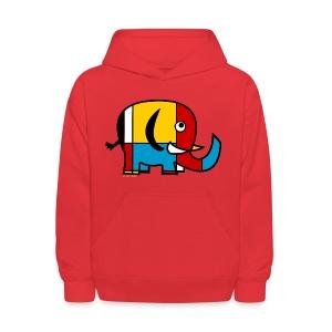 Mondrian Elephant Kids T-Shirt - Kids' Hoodie