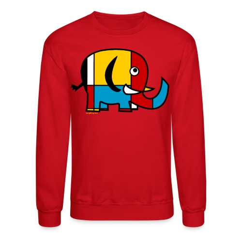 Mondrian Elephant Kids T-Shirt - Crewneck Sweatshirt