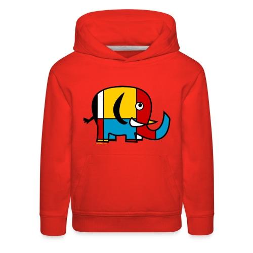 Mondrian Elephant Kids T-Shirt - Kids' Premium Hoodie