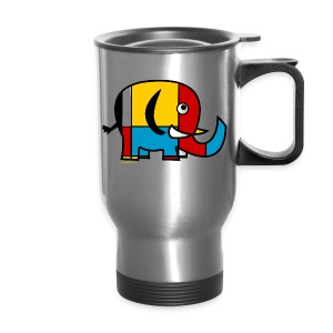 Mondrian Elephant Kids T-Shirt - Travel Mug