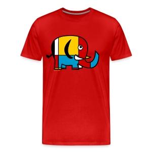 Mondrian Elephant Kids T-Shirt - Men's Premium T-Shirt