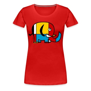 Mondrian Elephant Kids T-Shirt - Women's Premium T-Shirt