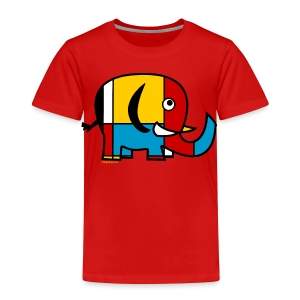 Mondrian Elephant Kids T-Shirt - Toddler Premium T-Shirt