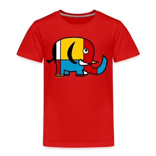 Mondrian Elephant Kids T-Shirt - Toddler Premium T-Shirt