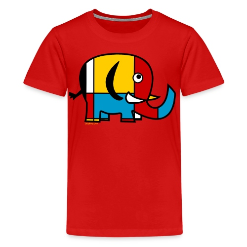 Mondrian Elephant Kids T-Shirt - Kids' Premium T-Shirt