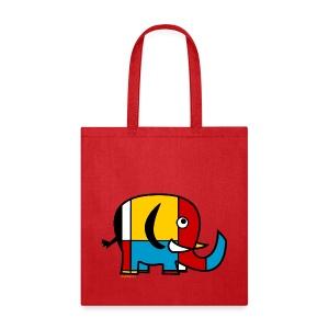 Mondrian Elephant Kids T-Shirt - Tote Bag