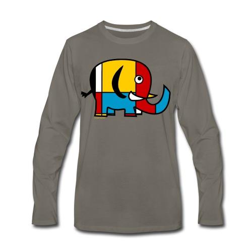 Mondrian Elephant Kids T-Shirt - Men's Premium Long Sleeve T-Shirt