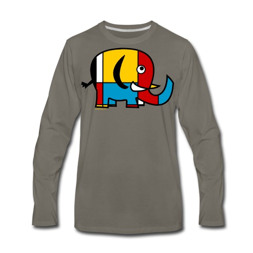 Mondrian Elephant Kids T-Shirt - Men's Premium Long Sleeve T-Shirt