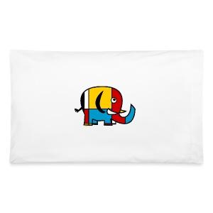 Mondrian Elephant Kids T-Shirt - Pillowcase