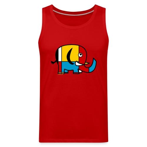 Mondrian Elephant Kids T-Shirt - Men's Premium Tank