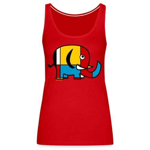 Mondrian Elephant Kids T-Shirt - Women's Premium Tank Top