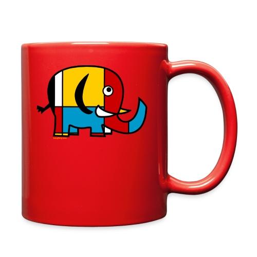 Mondrian Elephant Kids T-Shirt - Full Color Mug