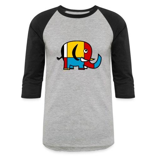 Mondrian Elephant Kids T-Shirt - Baseball T-Shirt