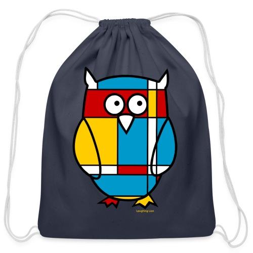 Mondrian Owl Kids T-Shirt - Cotton Drawstring Bag