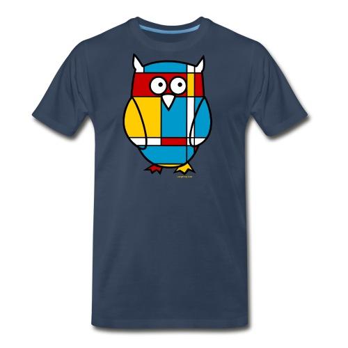 Mondrian Owl Kids T-Shirt - Men's Premium T-Shirt