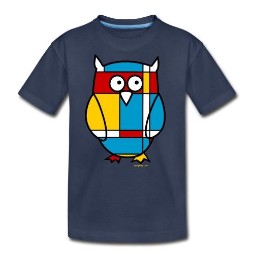 Mondrian Owl Kids T-Shirt - Kids' Premium T-Shirt