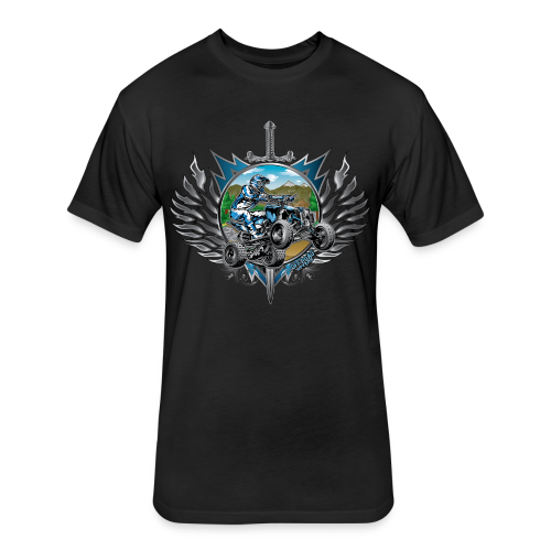 Freestyle ATV Heraldic Blue - Fitted Cotton/Poly T-Shirt by Next Level