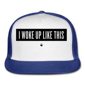 I Woke Up Like This - Baby Short-Sleeve One Piece - Trucker Cap