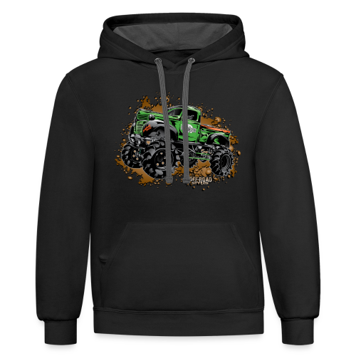 Wicked Over Budget Truck  - Contrast Hoodie