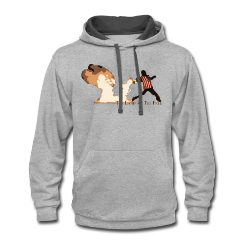 Land Of The Free - Contrast Hoodie