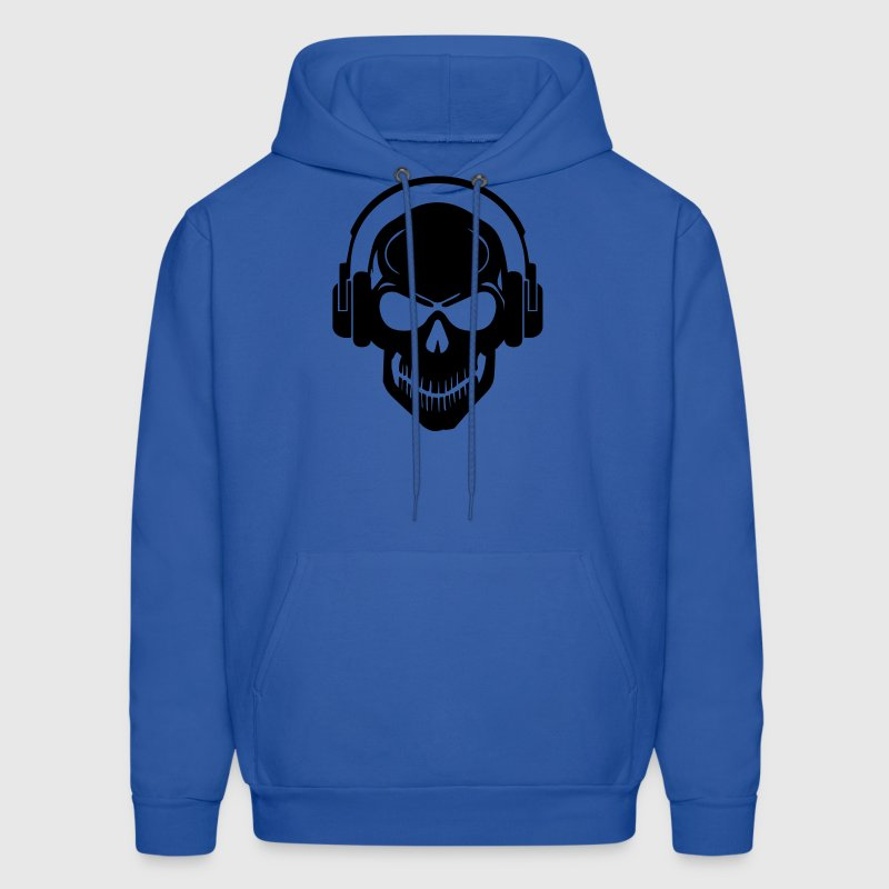 Skull with Headphones - Rave - Electro - Hardstyle Hoodies - Men's Hoodie
